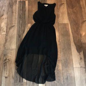 ISSI hi low black dress